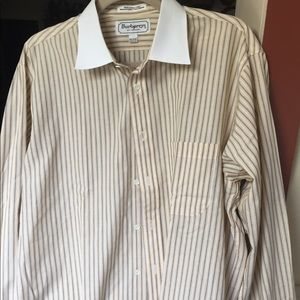 Vintage Burberry French cut shirt